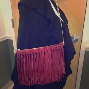 Awesome Suede Fringed Crossbody Bag